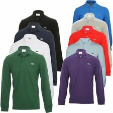 NEW MENS LACOSTE LONG SLEEVE CLASSIC FIT COTTON PIQUE POLO SHIRT, L.13.12