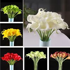 10PCS Real Latex Touch Calla Lily Flower Bouquets Bridal Wedding DIY Bouquet Hot