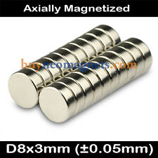 Bulk Strong Disc Round Rare Earth Neodymium Magnets N35 8x3mm Fridge Magnet NEO