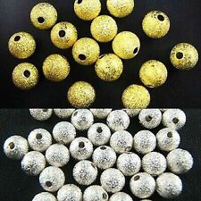 3/4/6/8/10mm Silver/Gold Plated Round Spacer Loose Beads Charms Jewelry Findings
