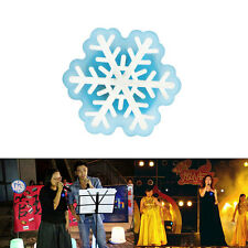3/5/10 Christmas Snowflake LED Flashing Light Up Badge Brooch Pins Party Jewelry