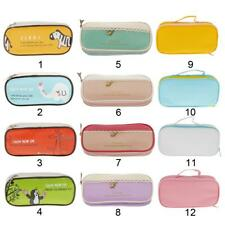 Portable Cosmetic Make up Brush Bag Pen Case Pencil Pouch Stationery Box Purse