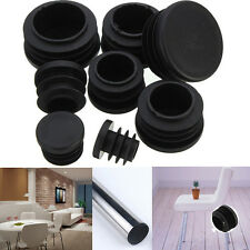 10x Round Plastic Plastic Blanking End Caps Insert Plugs Bung Round Pipe Tube JS