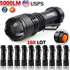 10x Lot 5000LM CREE Q5 LED AA/14500 ZOOMABLE Tactical Flashlight Torch Lamp Kits
