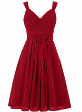 A Line Knee Length Bridesmaid Party Dress Short Sleeveless Cocktail Gowns HD0010