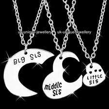 BLACK FRIDAY - Xmas Gifts For Her Heart Sisters Necklace Best Friends Daughters