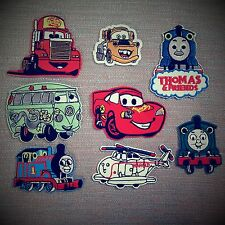 Movie Cars Embroidery Iron-on Funny Patch Cartoons Face Applique