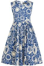 Little Lady Vintage Girls Clocks Dress Rockabilly Retro 50s 60s Party 3-10yrs