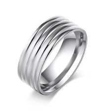 1pc mens Band Ring Ring Size 7 8 9 10 11 Stainless Stell Ring Classic Simple
