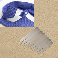 10pcs Stainless Steel Collar Stays Magnetic Collar Stiffener Shirt Accessory