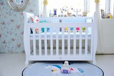 3 in 1 Sunshine  Sleigh Cot crib Toddler Bed with Drawer & Mattress White