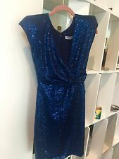 Marc Bouwer Glam it! New NWT Womens Navy Sheath Dress SZ 2 Sequined Formal Party