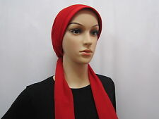 New Rose Flower Hijab Scarf Cap Bonnet Chemo Hat Turban Red