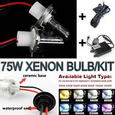 75W Xenon Bulbs Hid Kit Ballast Slim Car Headlight Custom Front Foglight 3K-12K
