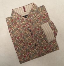Men's Beatles LENNON & McCARTNEY Floral Club Dress Shirt All You Need is Love