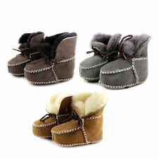 Winter Leather Baby Boy Girl Snow Boots Soft Sole First Walkers Booties HR