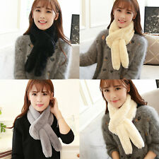 Casual Women Korean Solid Neck Wrap scarf Thick Keep Warm Winter scarf HR
