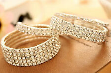 Bracelet Hot Pick Elastic Wedding Chain Womens Bridal Crystal Rhinestone