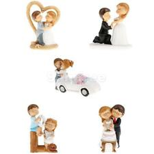 Novelty Wedding Birthday Romantic Bride Groom Cartoon Cake Topper Figurine