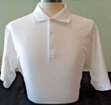 NEW TALL MEN'S NIKE GOLF STRETCH UV TECH SOLID POLO SHIRT, WHITE, SIZE SMALL