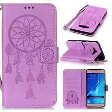 Magnetic Flip Cover Stand Wallet PU Leather Case Strap For Cellphones Purple