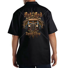Dickies Mechanic Work Shirt Rat Rod Speed Shop Classic Rust Car Auto Racing