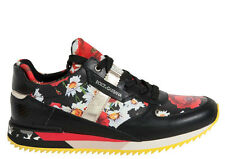 DOLCE & GABBANA WOMEN SHOES POPPY PRINT SNEAKERS MADE IN ITALY #CK0006