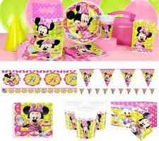 Minnie Mouse Pink Girl Birthday Party Supplies Tableware Plates Napkins Cup Loot