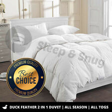 NEW All Seasons **100%** DUCK Feather 2 in 1 Duvet 4.5+9.0TOG *All SIZES*