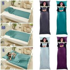 Ultra-soft Cotton Sleeping Bag Liner Hostel Camping Travel Sheet with Carry Bag