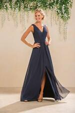 Long Bridemaid Dresses Evening Formal Gowns V Neck Chiffon A Line Party HD054