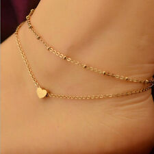 BRACELET or ANKLET Floating LOVE HEART Rose Gold plated chain fashion jewellery