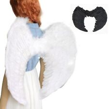 Adult Kids Cosplay Angel Wings Fancy Dress Fairy Feather Costume Party Clubwear