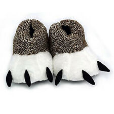 Polar Bear Paw Slippers Unisex Animal Claw Boots Cosplay Furry Home Slippers