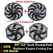 "2Pcs 10"" Inch 12"" Inch Pull & Push Racing Electric Radiator Engine Cooling Fan"