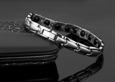 Titanium Steel Magnetic Therapy Health Care Energy Couple Bracelet 3500 Gauss