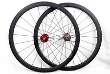 carbon fixed gear single speed road wheel 23mm width Clincher track hub.700C