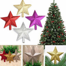 Sparkle 3D Star Design Christmas Tree Top Topper Decoration  LD