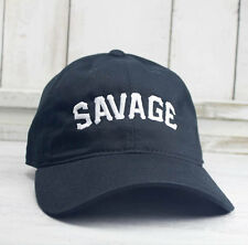 Savage University Dad Hat Lit Embroidered Baseball Cap Curved Bill 100% Cotton