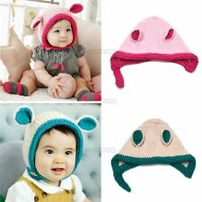 Unisex Baby Hair Accessories Kids Girl Beanie Hat Bunny Ears Cap Toddler C