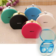 Perfume Bottle Retro Shaped Contact Lens Case Box Container Holder Box