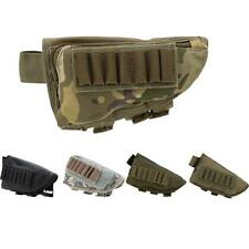 Outdoor Tactical Military Hunting Ammo Pouch Holder + Leather Pad Black Q0L3