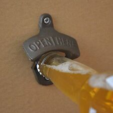 Vintage Antique Style Bar Pub Beer Soda Top Bottle Opener Wall Mount WA