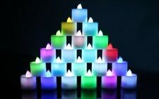 3 x Childrens/Toddlers/Babies Colour Changing LED Candle Night Lights
