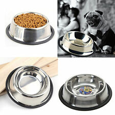 Stainless Steel Pet Bowl Dog Cat Puppy Food Water Dish Non Slip Pet Feeding Care