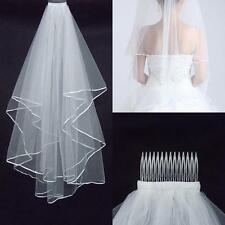 Two Layer Wedding Veils Garden Veils With Comb High Quality White Ivory Veils