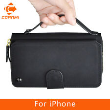 Cornmi Multifunction Leather Wallet Zipper Purse Pouch Cases Handbag For iPhone