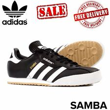 NEW ADIDAS SAMBA SUPER LEATHER BLACK RETRO STYLE ORIGINALS TRAINERS SZ 7.5-13 UK