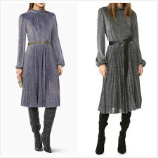 New BCBG Max Azria Coleen Metallic Jersey Dress Christmas Holiday in Two Colors