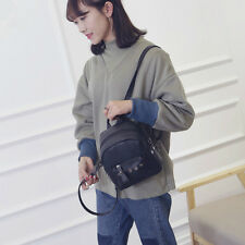 Women Girl Mini School PU Leather Shoulder Bag Backpack Travel Rucksack Purse